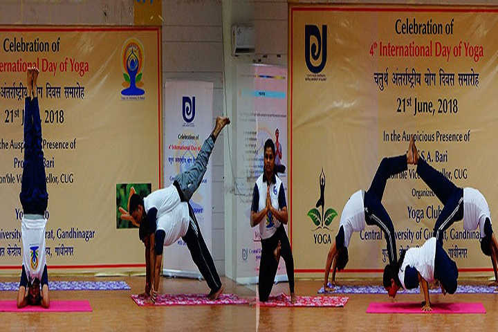 Central University of Gujarat, Gandhinagar  Yoga Event at Central University of Gujarat Gandhinagar