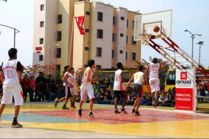 Chitkara University, Himachal Pradesh  Basket Ball Court at Chitkara University Himachal Pradesh