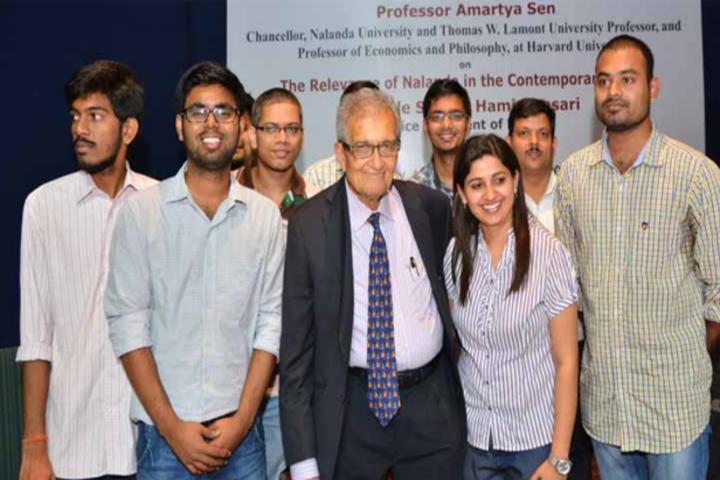 Nalanda University Nalanda  Students with Guest at Nalanda University Nalanda
