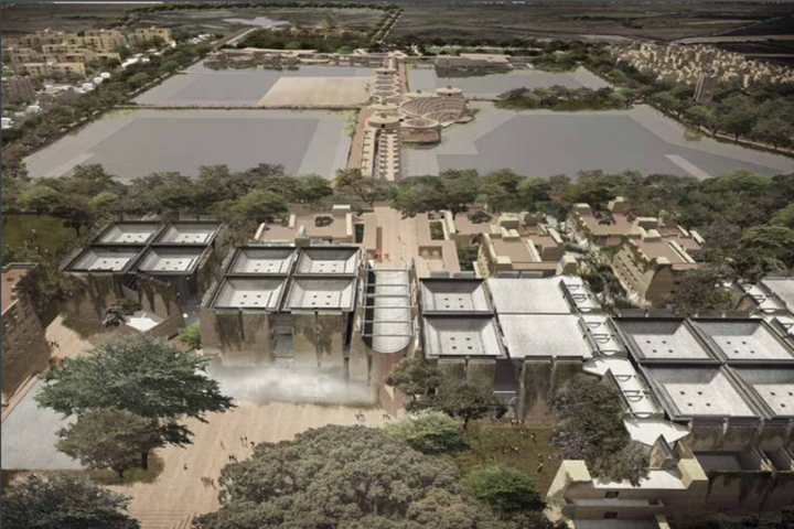 Nalanda University Nalanda  Aerial View of Nalanda University Nalanda