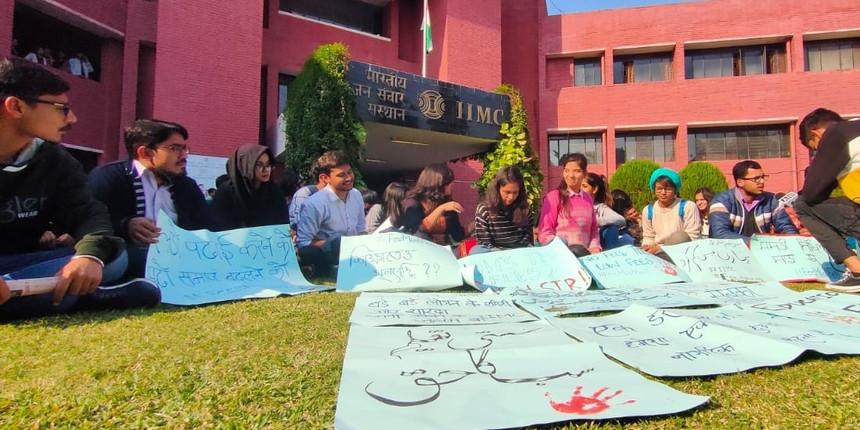 Following JNU, IIMC students demand 'accessible education'