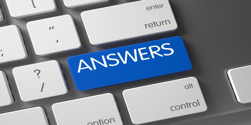 SRMJEEE Answer Key 2020