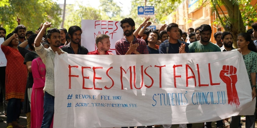 """Protests will continue till fee hike is reversed"": PU students"