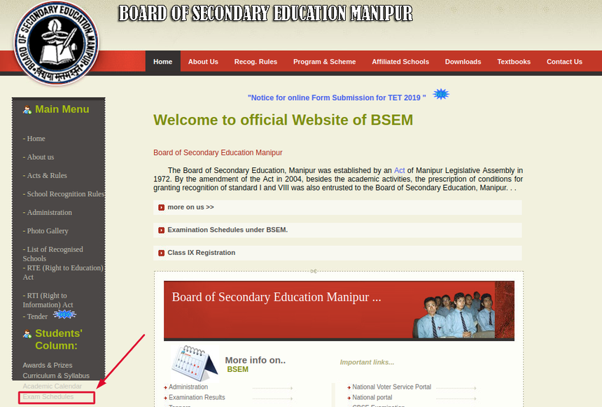 manipur-time-table-website
