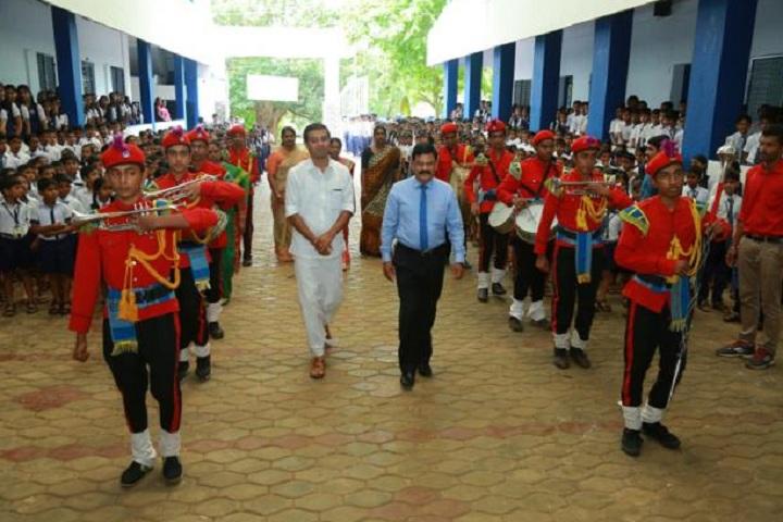 Vidhyadhiraja Vidya Bhavan Senior Secondary School-Events investiture ceremony