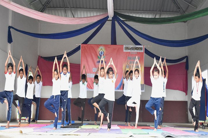 Temple Town Euro School-Yoga Day