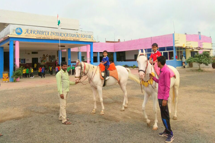 Aaradhya International School-Horse Riding Activity