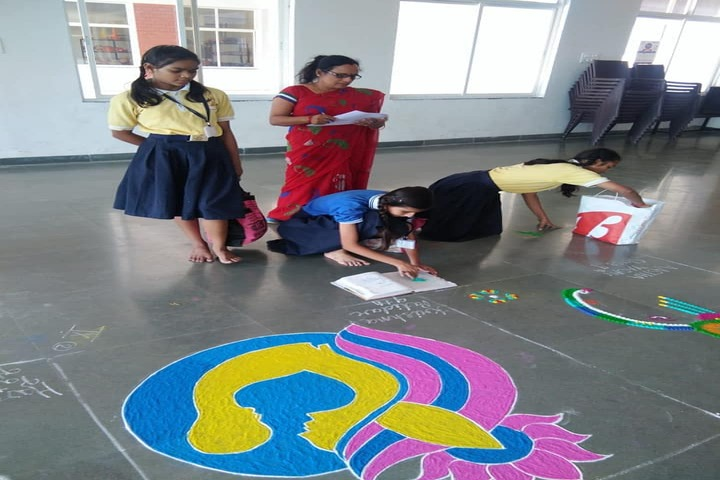 Abhyuday Vidyasthali-Rangoli Competition