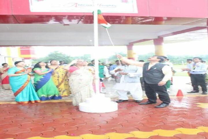 Ahps Sagar Ahlcon Heights Public School-Flag Hoisting