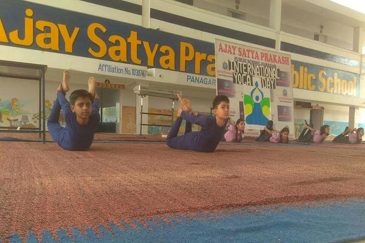 Ajay Satya Prakash Public School-Yoga Day