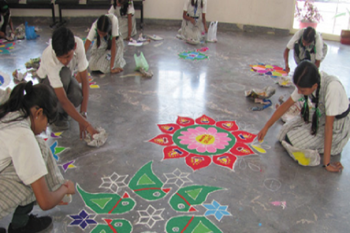 Anant Utsav School-Rangoli Competition