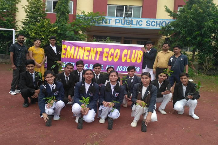 Eminent Public School-Campus-View front with students