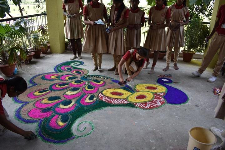 Akshar Vidya Griha-Rangoli Competition