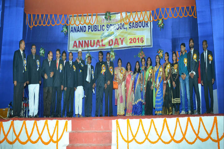 anand public school Sabour - Annual day staff