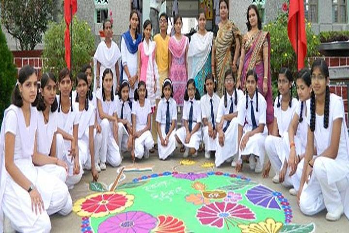 Jawahar Navodaya Vidyalaya-Rongoli Competation
