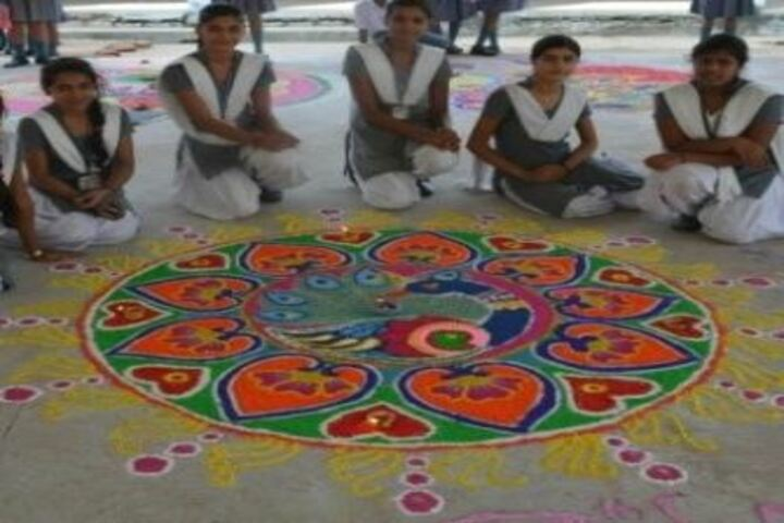 Army Public School-Rangoli Competition