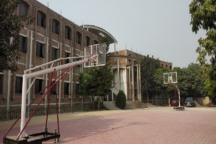 Asian School-Campus-View with playground