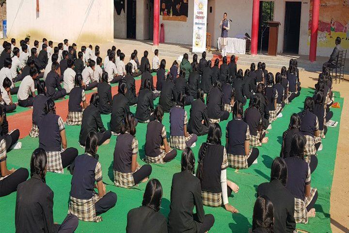 Little Flower International School-Yoga Day
