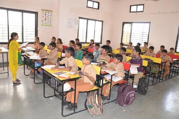 Navin Vaishnav Vidhyamandir-Classroom with teacher