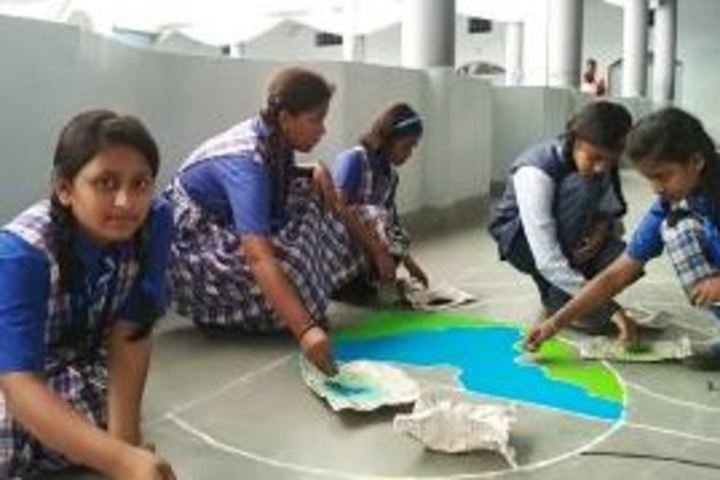 Nirmala English Medium School-Rangoli Compitition