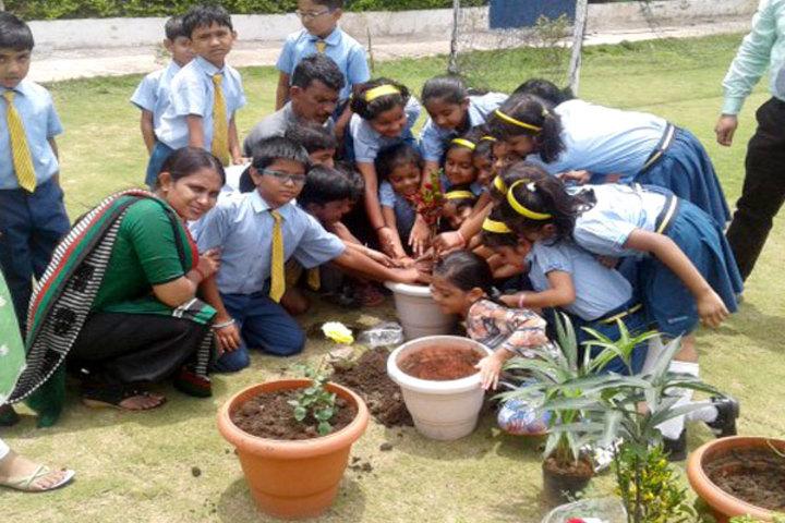Podar International School-Tree Plantation