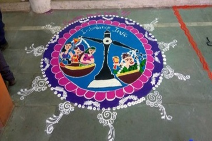 Prof Santosh Mittal Higher Secondary School-Rangoli