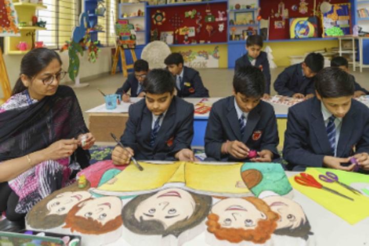 Saket International School-Art work