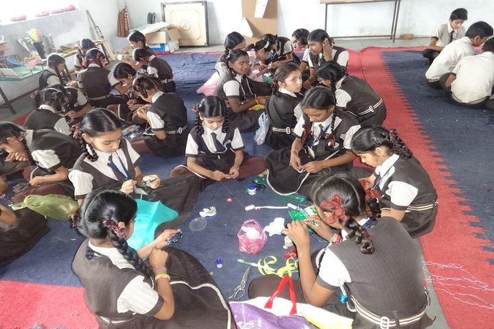Shashwat International School-Rakhi Making