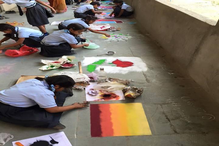 Shri Vidhya Sagar Public School-Rangoli Competition