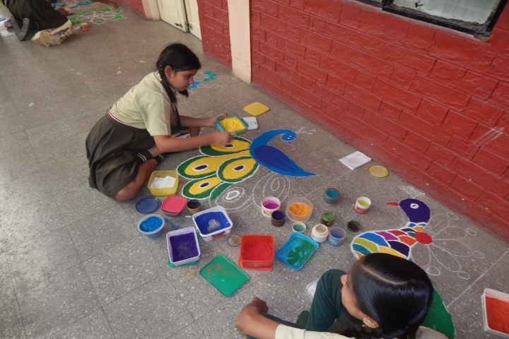 Sica Senior Secondary School No 2-Rangoli Competition