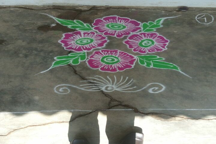 South East Central Railway Mixed Higher Secondary School-Rangoli Competition
