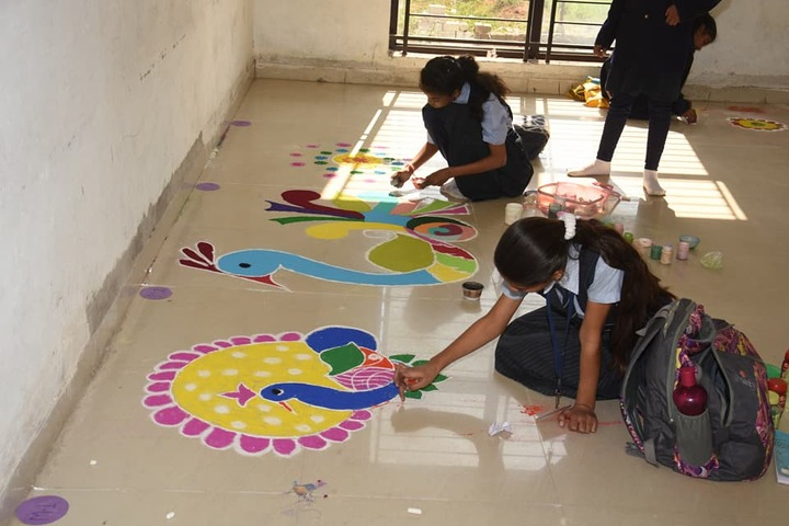 Springdales Senior Secondary School-Rangoli Competition