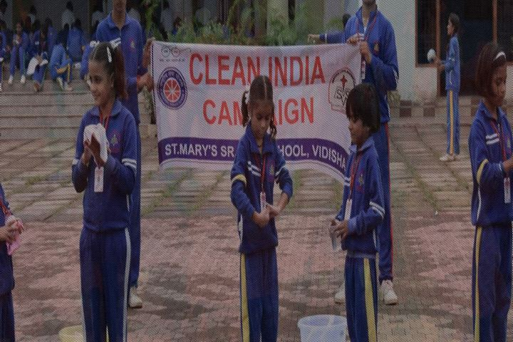 St Marys Higher Secondary School-Cleaning Campaign