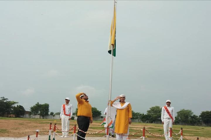 Takshshila Public Model High School-Flag hosting