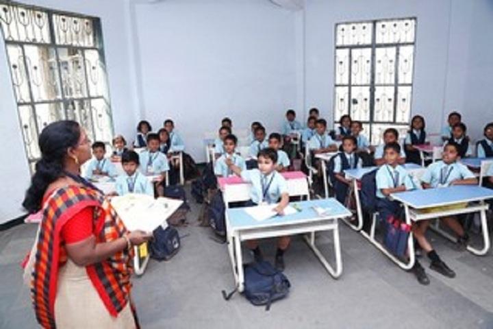 Aarya Public School-Classroom with teacher
