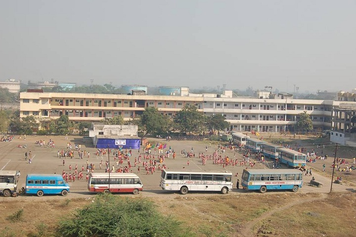 Angel High School-Campus-View full with playground