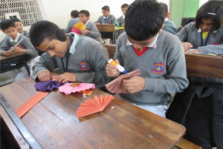 Army Public School-Flower Making Competition