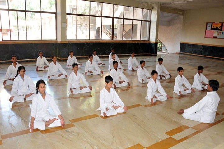 Bharati Vidyapeeth GodS Valley International School-Yoga Class