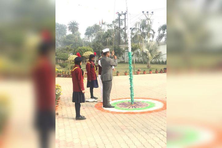 Chauhan Public School- Flag Hoisting