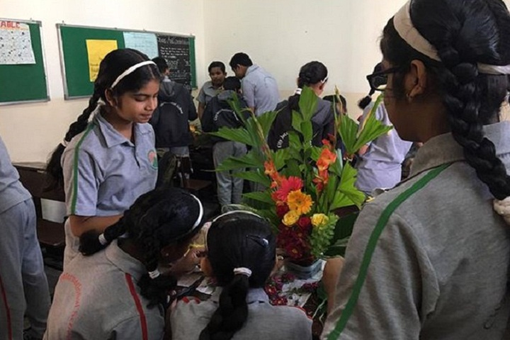 City International School-Flower-Decoration Activity