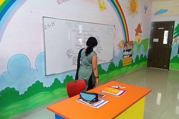 Darshan Academy-Classroom with teacher
