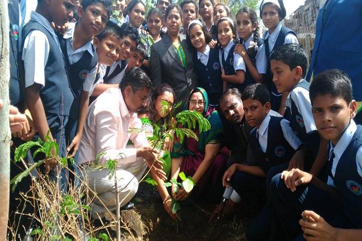 Daulati International English Medium School-Tree Plantation