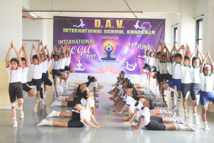 Dav International School-Yoga Activity