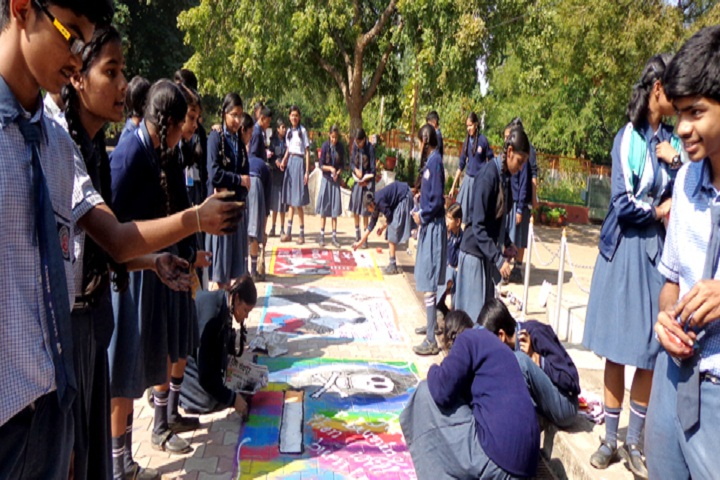 Dilsagram Convent English Medium School-Rangoli Competition