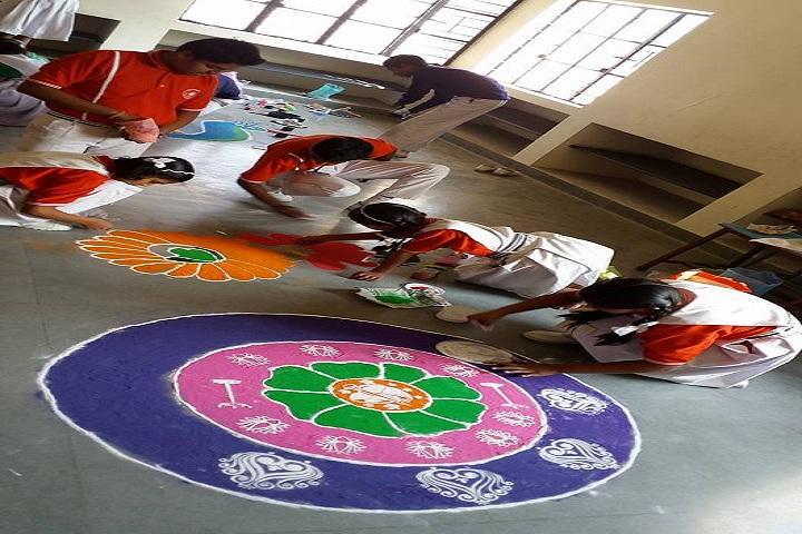 Divine Providence School-Rangoli