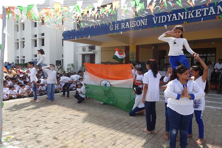 G H Raisoni Vidya Niketan-Independence Day Celebrations
