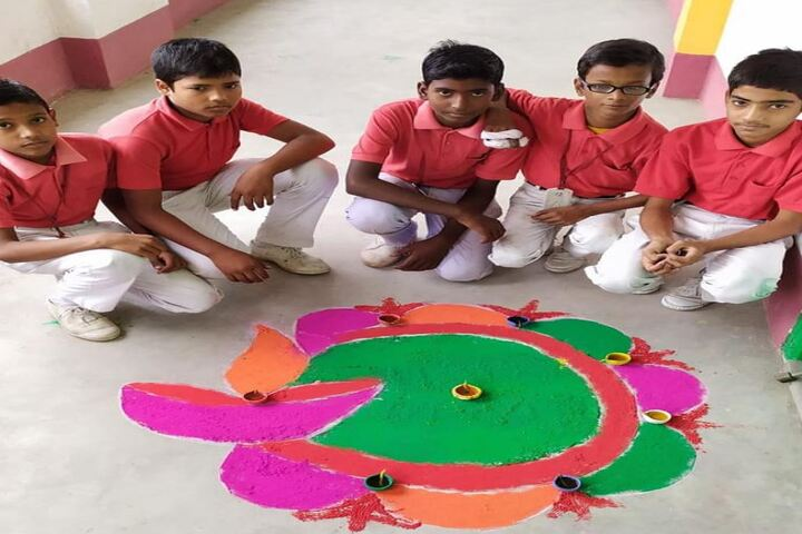 Columbus English Academy-Rangoli