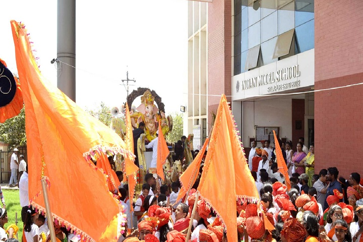 Indian Model School-Ganesh uthsav