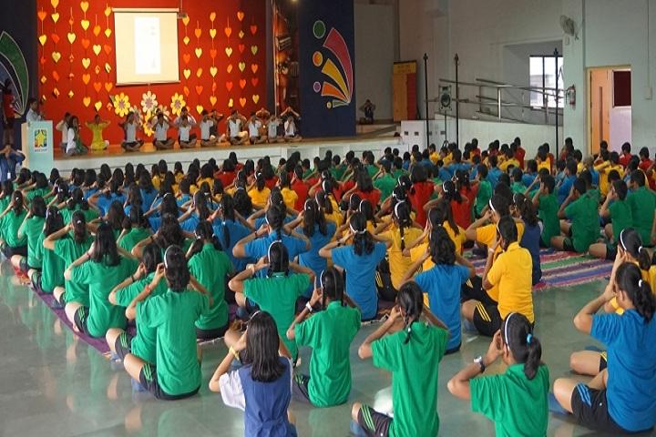 Indira National School-Yoga Day