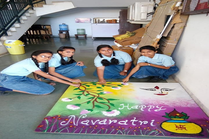Jawaharlal Darda English Medium School-Rangoli
